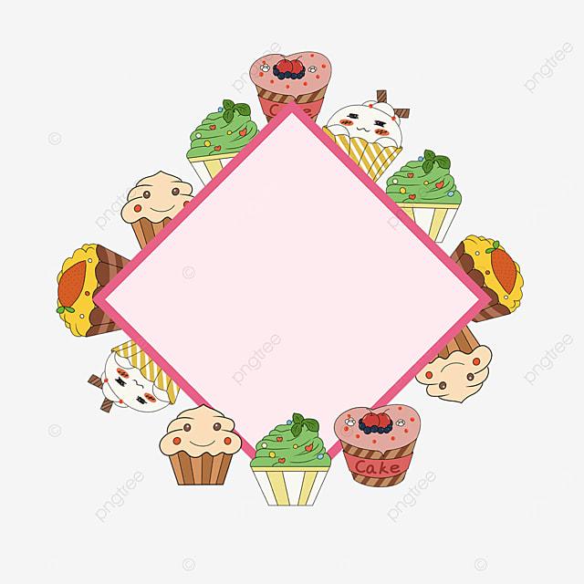 pink cupcake buy border