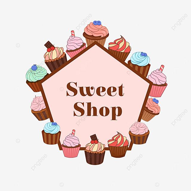 pink cupcake shop border