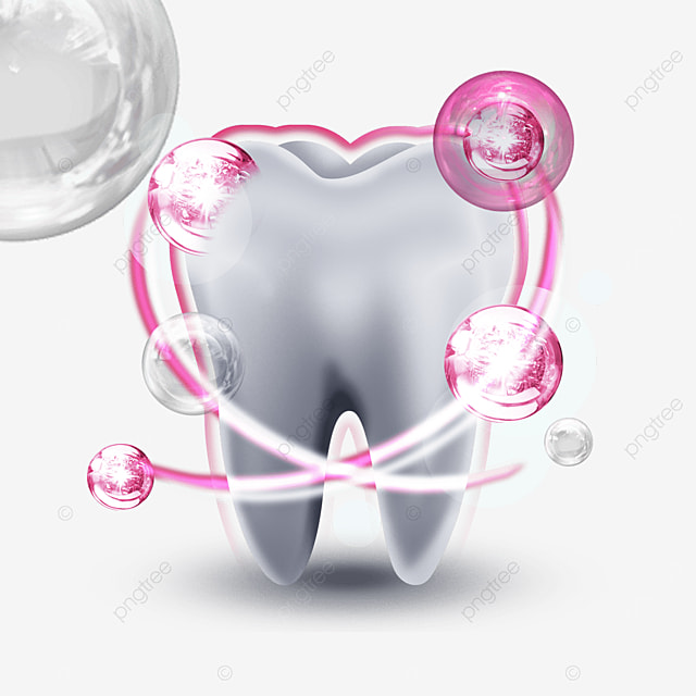 pink protective light effect dental health
