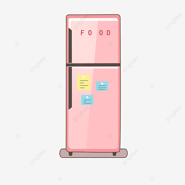 pink refrigerator clip art