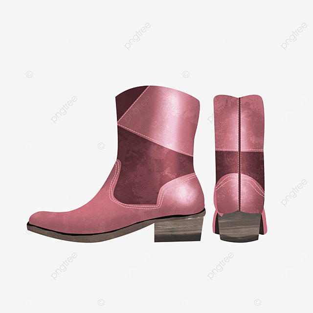 pink shoes back boots clipart