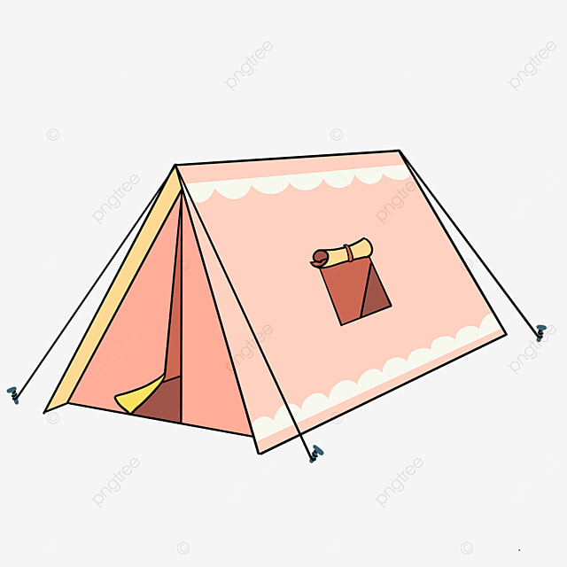 pink sweet tent clipart