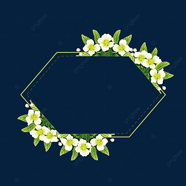 polygonal jasmine flower border
