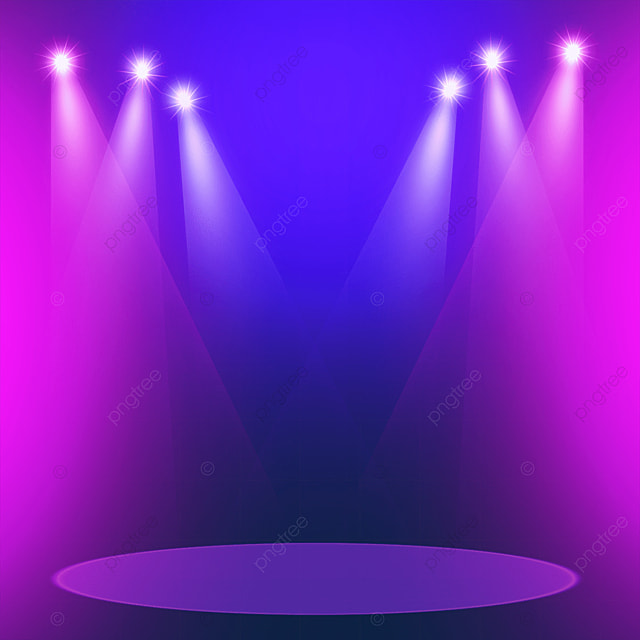 purple and pink stage colored spotlights