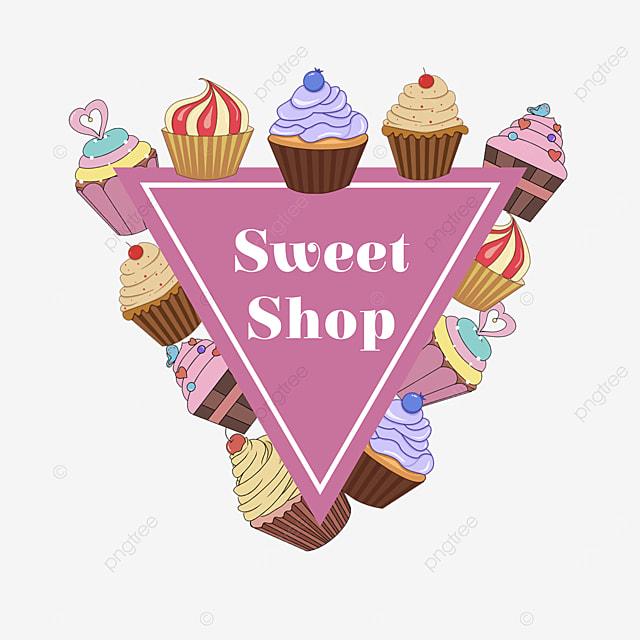 purple cupcake gourmet shop border