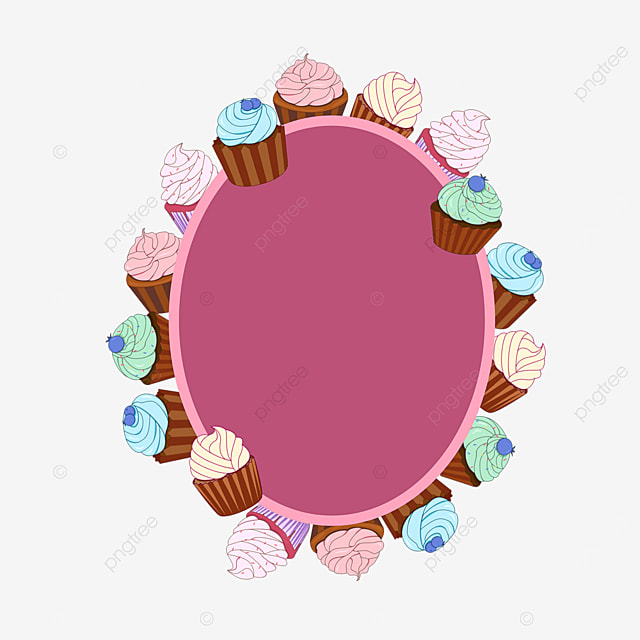 purple cupcakes surrounded by distributed borders
