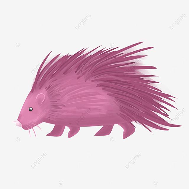 purple porcupine clip art