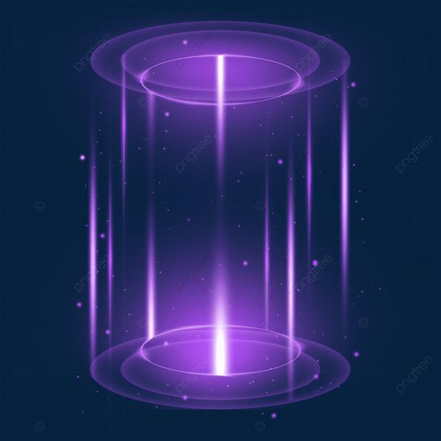 purple transparent bottom and top sci fi magic light effect