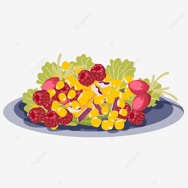 raspberry corn vegetable salad
