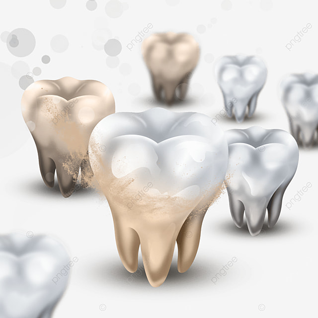 realistic dental plaque light effect dental health