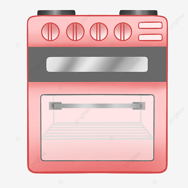 red gray shelf oven clipart