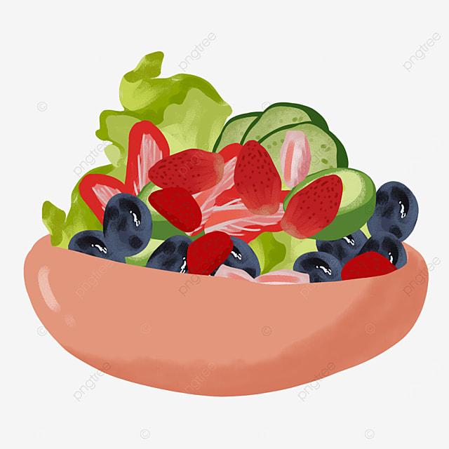 reduced fat nutritional salad clip art