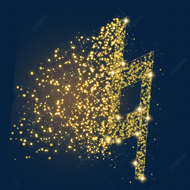 restore the sign music luminous light effect particles