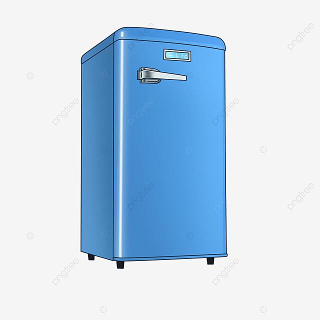 retro blue refrigerator clipart