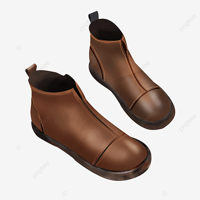 retro vintage handmade leather shoes boots clipart