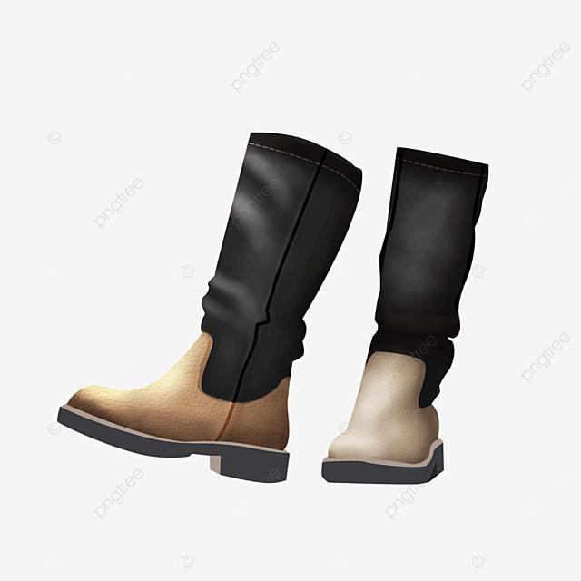 retro vintage warm shoes clothing boots clipart