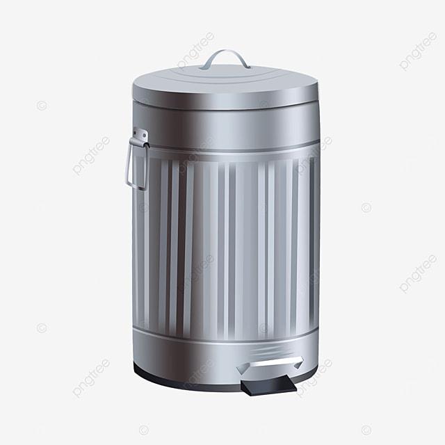 roman pattern round trash bin clipart