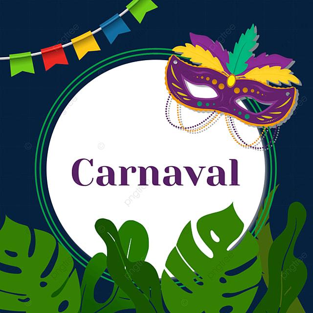 round border brazilian carnival festival border