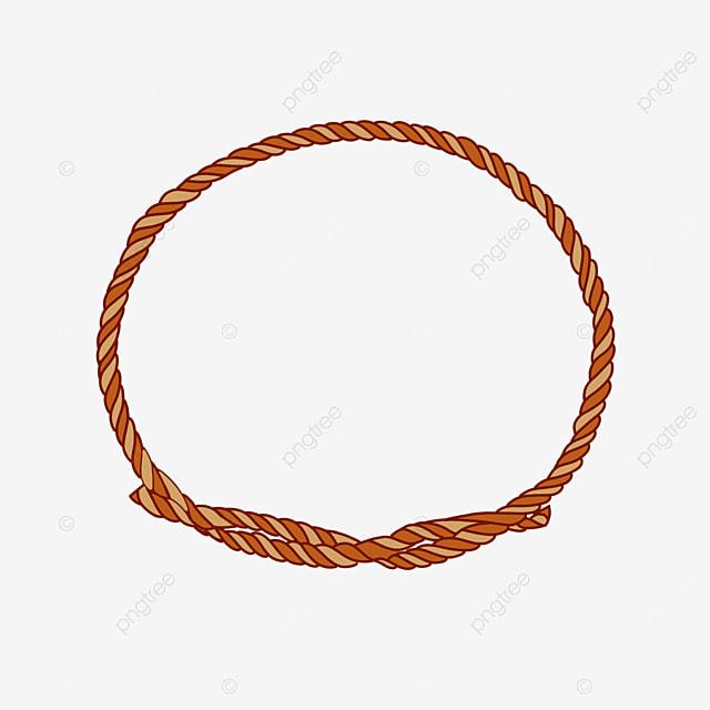 round border decorative colored rope clipart