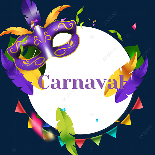 round bunting carnival border