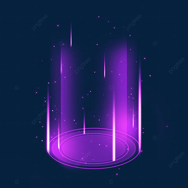 sci fi magic light effect at the bottom of purple gradient