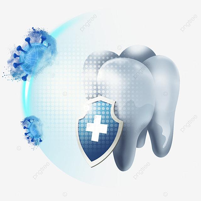 shield against bacteria light effect healthy teeth