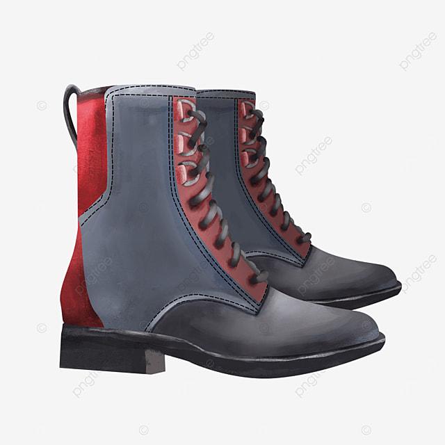 shoelace dark side dress shoes boots clipart