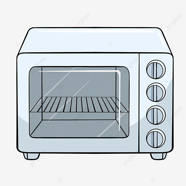 simple oven with blue lines clipart