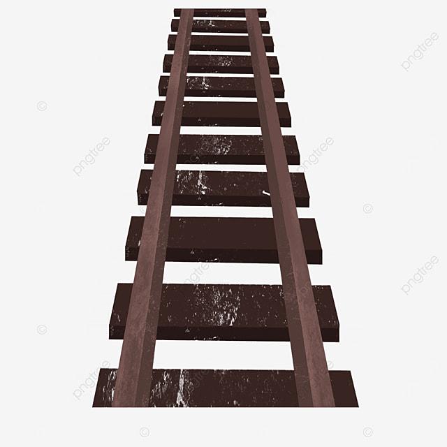 single dark railway clip art