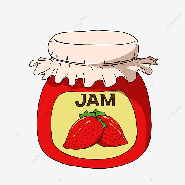 strawberry jam clipart cartoon food