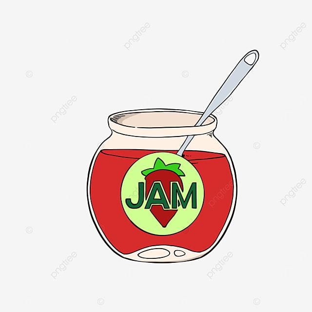strawberry jam clipart cartoon