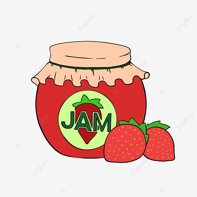 strawberry jam clipart cartoon strawberry