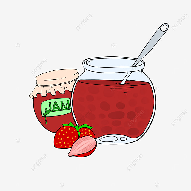 strawberry jam clipart cartoon style strawberry