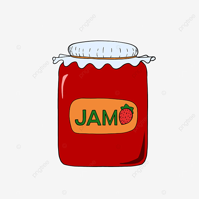 strawberry jam clipart red
