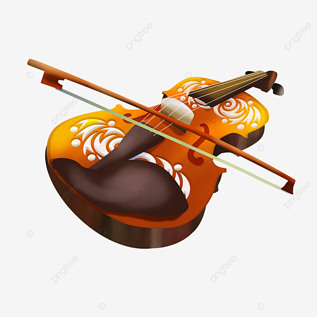 string and bow western musical instrument classical pattern violin clipart