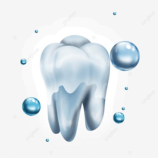 texture water pearl light effect teeth health