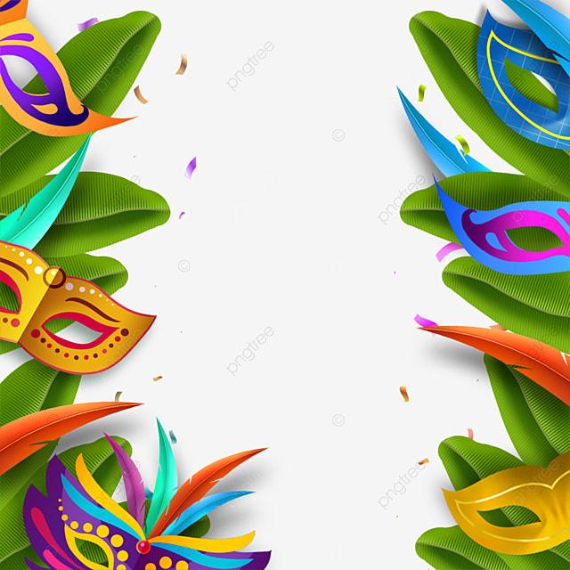 textured feather brazilian carnival mask border