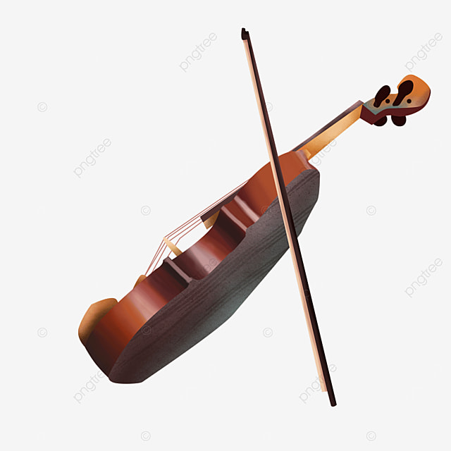 traditional classical western musical instrument back violin clipart