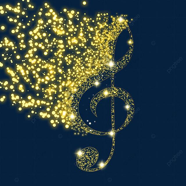 treble clef sparkle particles music glow light effect particles