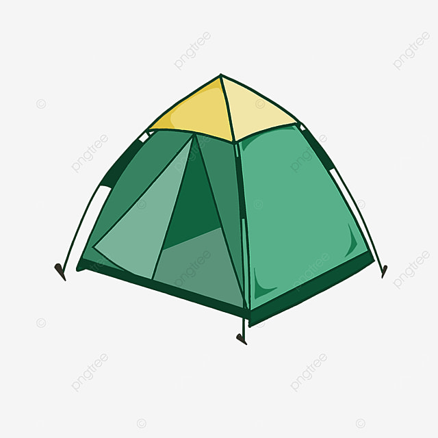 two color outdoor camping tent clipart