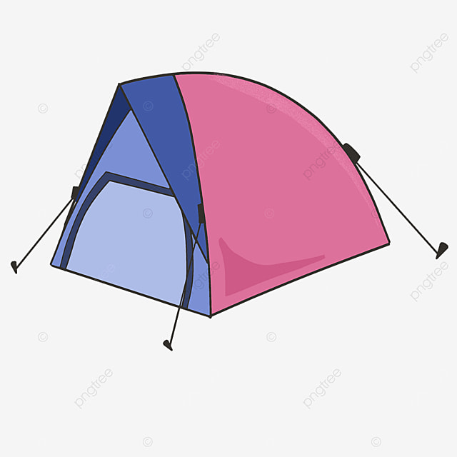 two color practical tent clipart