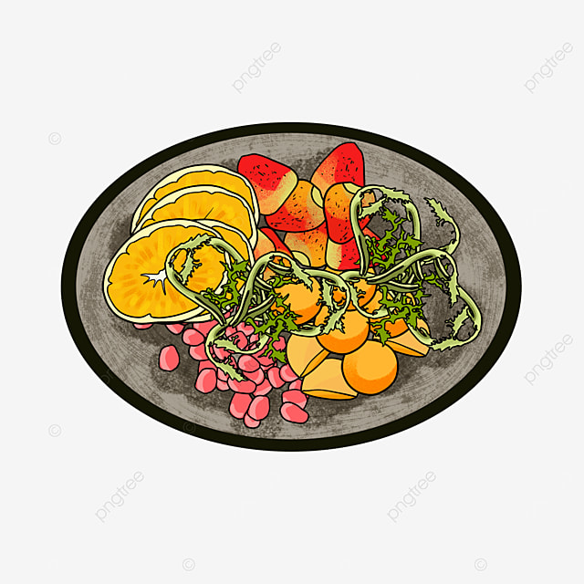 vegetable and fruit fat reduction salad clip art