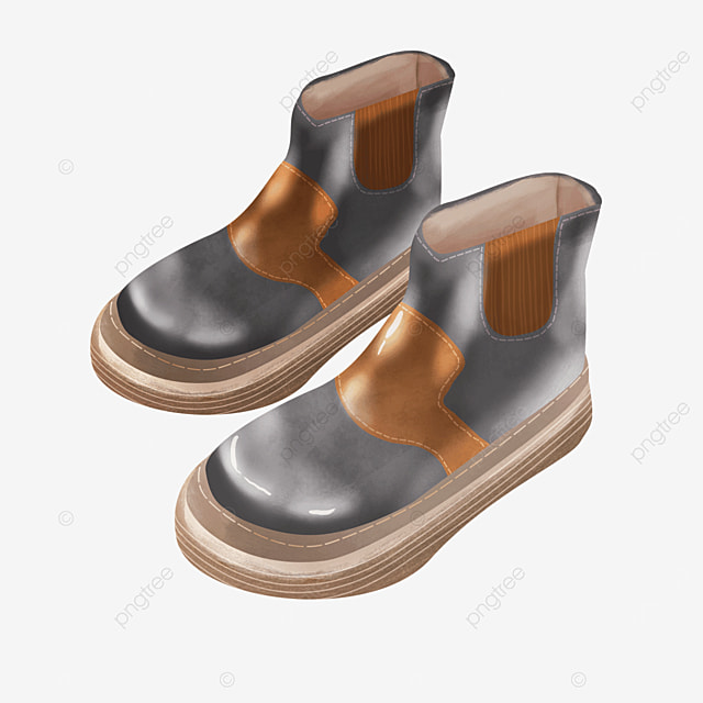 warm winter shoes boots clipart