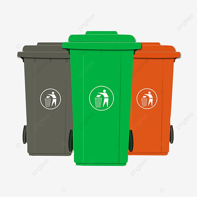 wheel sanitation trash bin clip art