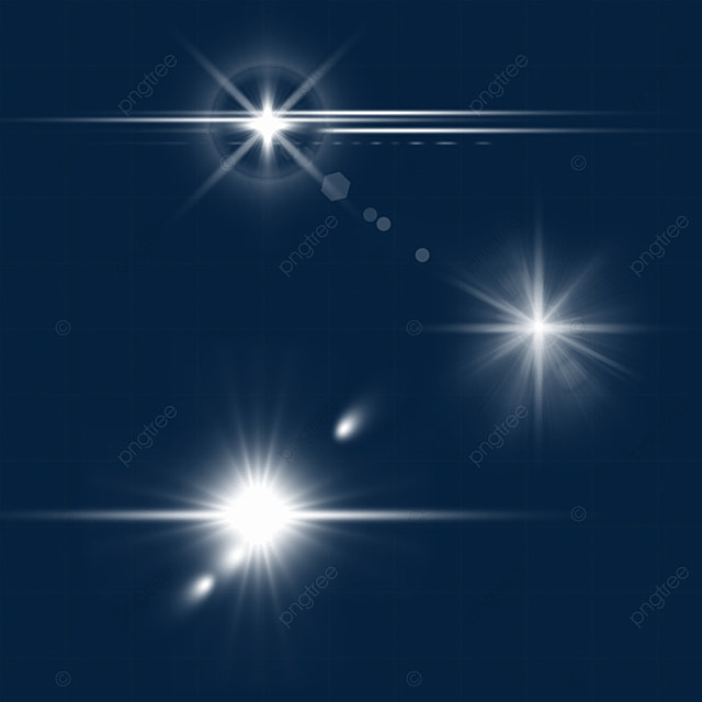 white glare light effect aperture combination