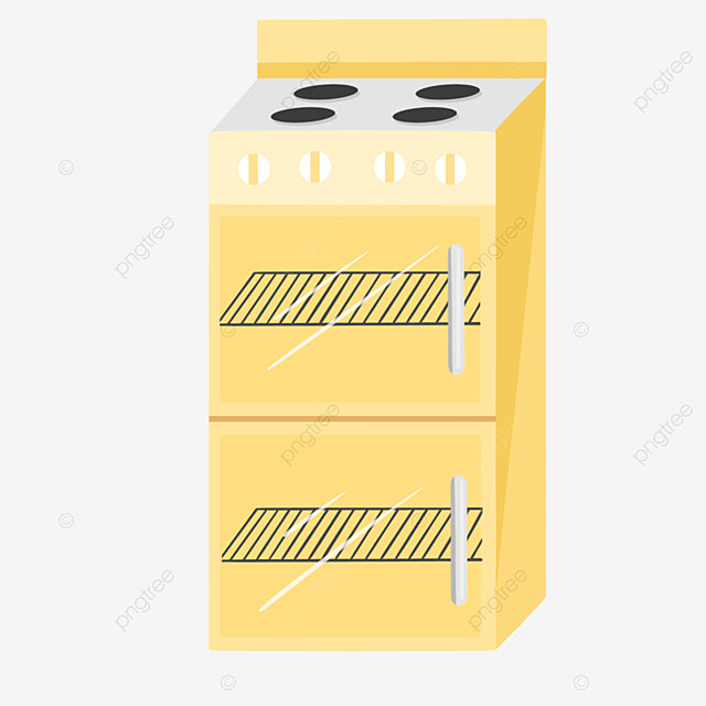 yellow cartoon simple oven clipart