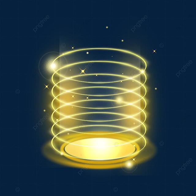 yellow circle shiny sci fi magic light effect