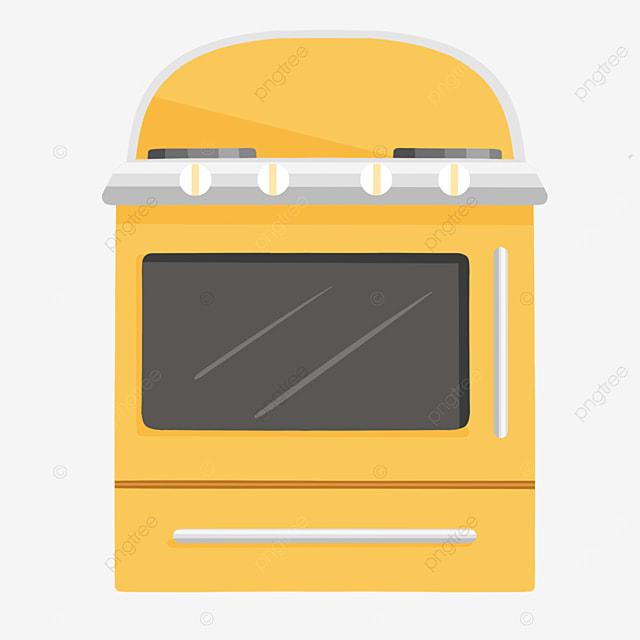 yellow gray cartoon oven clipart