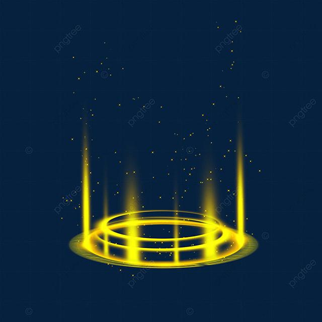 yellow mysterious bottom sci fi magic light effect