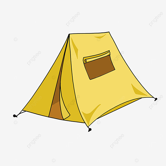 yellow practical stable warm tent clipart